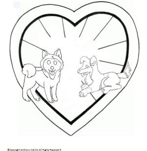 husky sheltie coloring1 preview